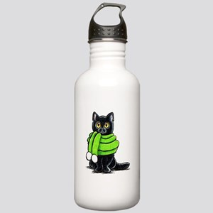 Black Cat Scarf Stainless Water Bottle 1.0L
