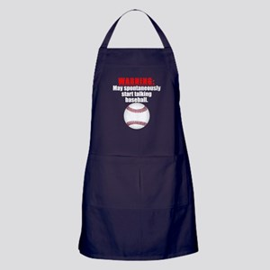 Spontaneous Baseball Talk Apron (dark)