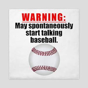 Spontaneous Baseball Talk Queen Duvet