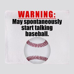 Spontaneous Baseball Talk Throw Blanket