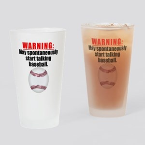 Spontaneous Baseball Talk Drinking Glass