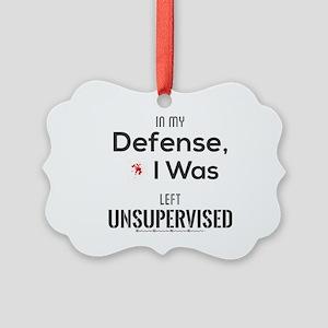 In My Defense, I Was Left Unsuper Picture Ornament