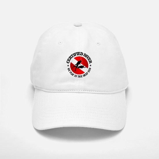 Certified Diver (Deep End) Baseball Baseball Baseball Cap