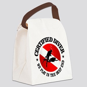 Certified Diver (Deep End) Canvas Lunch Bag