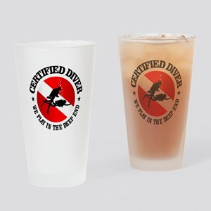 Certified Diver (Deep End) Drinking Glass