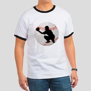 Baseball Catcher Silhouette T-Shirt