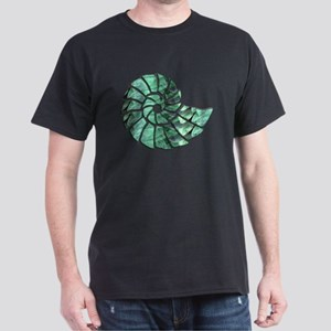 Green Stone Nautilus Shell T-Shirt