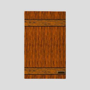 Wood Plank Decor Area Rug