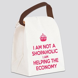 I am not a Shopaholic Canvas Lunch Bag