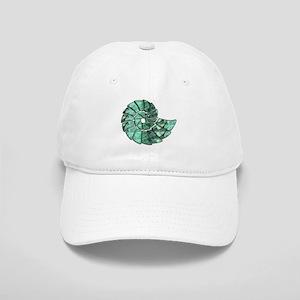 Green Stone Nautilus Shell Baseball Cap