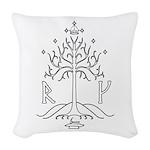bk_crest Woven Throw Pillow