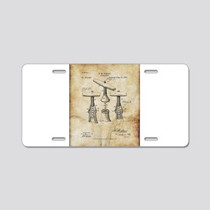 Corkscrew Patent Drawing Fr Aluminum License Plate