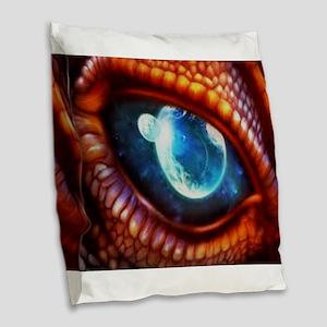 dragon eye 3.0 Burlap Throw Pillow