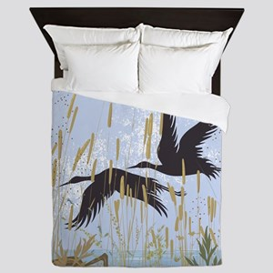 Wild Birds Queen Duvet