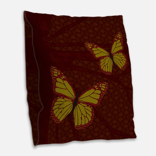 Chinese Monarch Burlap Throw Pillow