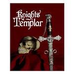 Templar Sword & Skull Poster (16 X 20)