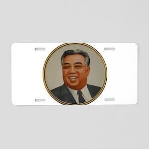 Kim Il Sung - The Great Lea Aluminum License Plate