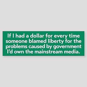 Blaming Liberty Bumper Sticker