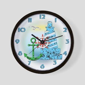 Sea Collage Wall Clock