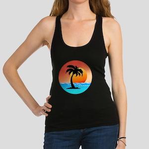 Palm Tree Sunset Racerback Tank Top