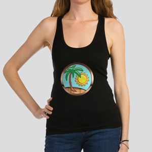 Palm Sun and Island Racerback Tank Top