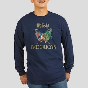 Irish American Unity Long Sleeve Dark T-Shirt
