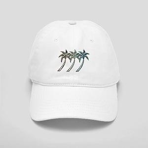 Palm Trees in Paua Shell Textures Baseball Cap