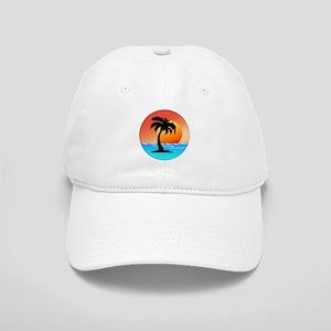 Palm Tree Sunset Baseball Cap