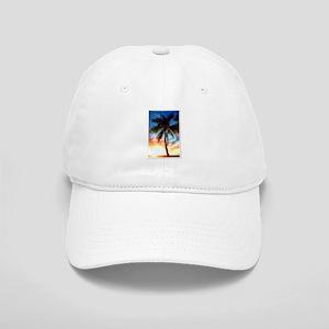 Palm Tree Sunset Stamp Baseball Cap