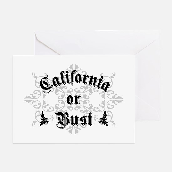 California or Bust Greeting Cards (Pk of 10)