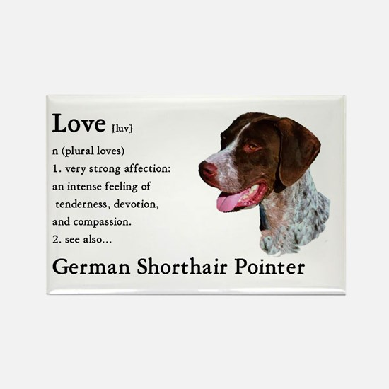 German Shorthaired Pointer Rectangle Magnet (10 pa