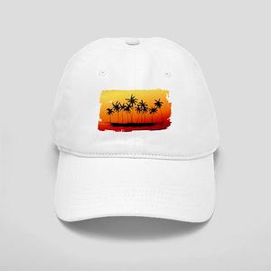 Palm Shadows at Sunset Baseball Cap