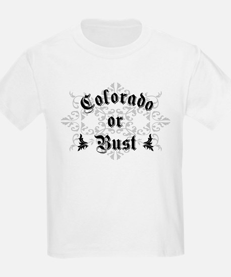 Colorado or Bust Kids T-Shirt