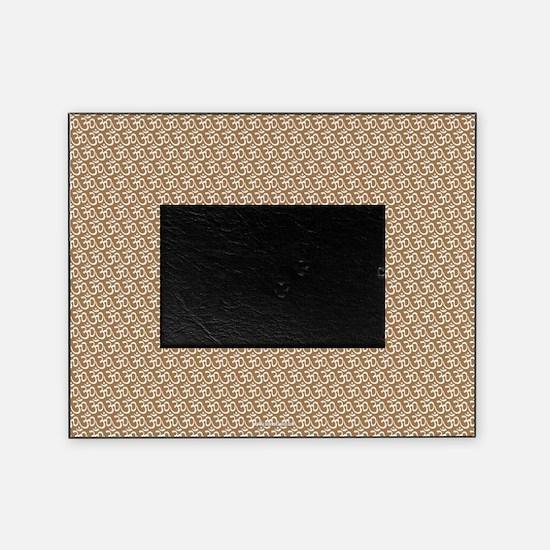 Yog Ohm Symbol Khaki Picture Frame