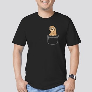 Funny Sloth in a Pocket T-Shirt