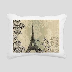 vintage paris eiffel tow Rectangular Canvas Pillow