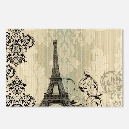 vintage paris eiffel towe Postcards (Package of 8)
