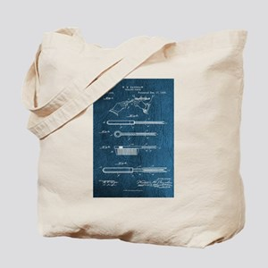 1889 Patent for Curling Tongs - Vintage Tote Bag