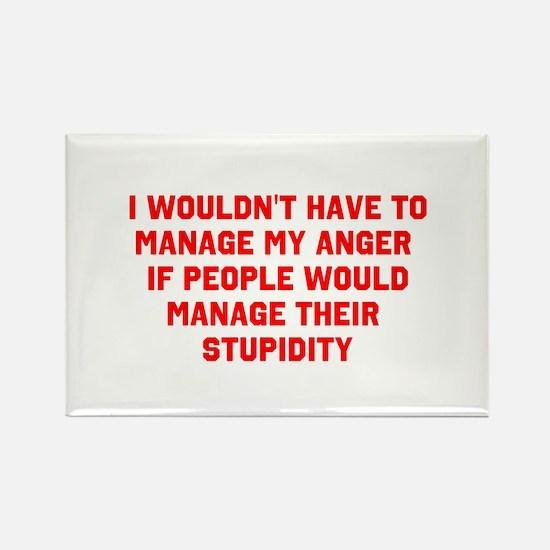 Anger vs Stupidity Magnets
