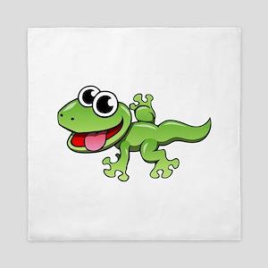 Cartoon Gecko Queen Duvet