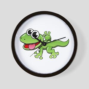 Cartoon Gecko Wall Clock