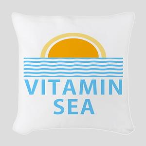 Vitamin Sea Woven Throw Pillow