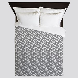 Yog Ohm Symbol Grey Queen Duvet