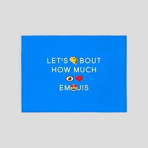 Let's Taco I Love Emojis 5'x7'Area Rug