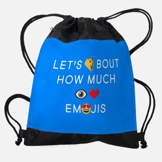 Let's Taco I Love Emojis Drawstring Bag