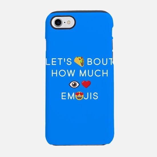 Let's Taco I Love Emojis iPhone 7 Tough Case
