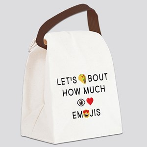 Let's Taco I Love Emojis Canvas Lunch Bag