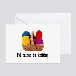 I'd rather be knitting Greeting Cards (Package of