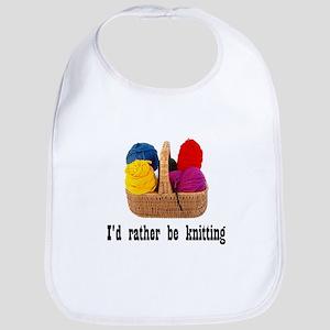 I'd rather be knitting Bib