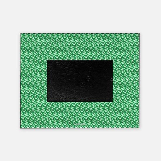 Yog Ohm Symbol Green Picture Frame